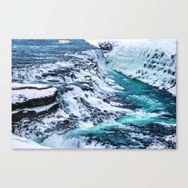 Gulfoss Waterfall Iceland Canvas Print