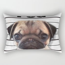good pugs gone bad Rectangular Pillow