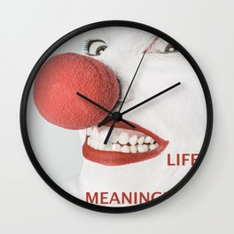 Meaning of life Wall Clock