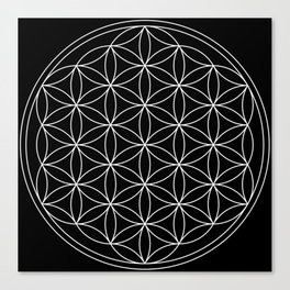 Flower of Life : Sacred Geometry Canvas Print