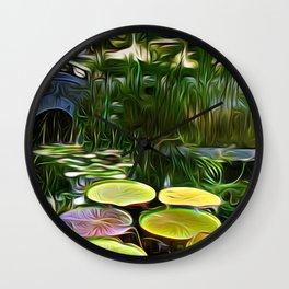 Greenery Pond Wall Clock