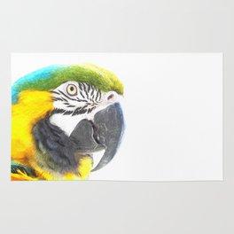 Macaw portrait Rug