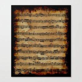 Grunge Sheet Music Music-lover's Design Canvas Print