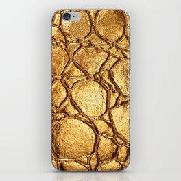 Golden tortoise shell iPhone Skin