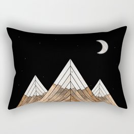 Digital Grain Mountains Rectangular Pillow