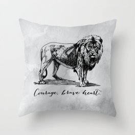 Courage, brave heart - Aslan - Chronicles of Narnia Throw Pillow