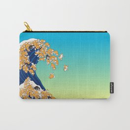Shiba Inu in Great Wave Carry-All Pouch