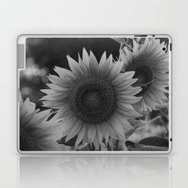 girasol (blanco y negro) Laptop & iPad Skin