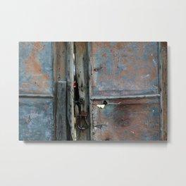 Rusty metal gate Metal Print