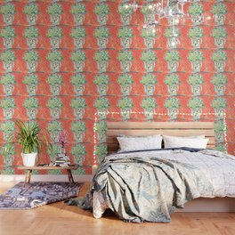 Think Happy Floral Wallpaper