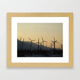 windmills of california Framed Art Print