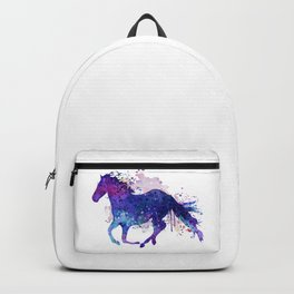 Running Horse Watercolor Silhouette Backpack