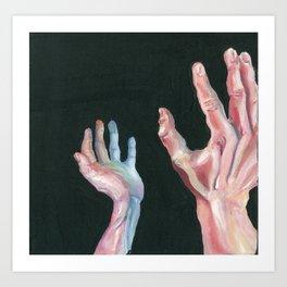 Grasping Darkness Art Print