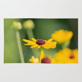 Portrait of a Wildflower in Summer Bloom Rug