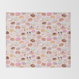 Mmm... Donuts! Throw Blanket