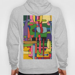 Colors in Collision 3 - Geometric Abstract of Colors that Clash Hoody