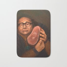 Danny DeVito with his beloved ham Bath Mat