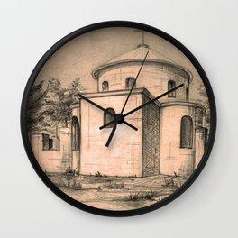 Old church | sketch Wall Clock
