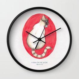 Haruki Murakami's Kafka on the Shore Watercolor Illustration Wall Clock