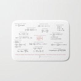 High-Math Inspiration 01 - Red & Black Bath Mat