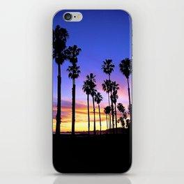 """Sunsets """"Santa Barbara Palms"""" iPhone Skin"""