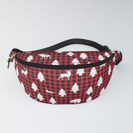 Woodland Pattern: Red Buffalo Plaid Fanny Pack
