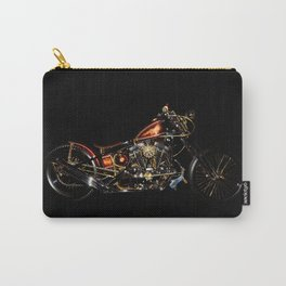 Knucklehead chopper on Black Carry-All Pouch
