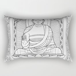 Buddha Black & White Rectangular Pillow