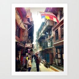 A Bhaktapur Alley Art Print