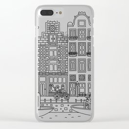 Amsterdam Line Art Clear iPhone Case