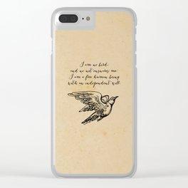 Jane Eyre - No bird - Bronte Clear iPhone Case