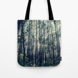 Behind the Trees Tote Bag