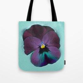 Purple viola tricolor Tote Bag