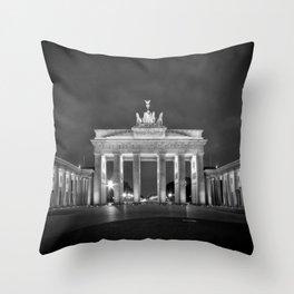 BERLIN Brandenburg Gate | monochrome Throw Pillow