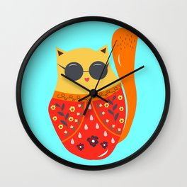 Undercover cat Wall Clock