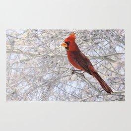 Red Cardinal Along the Salt River Rug