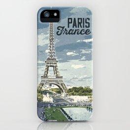 Paris, France / Vintage style poster iPhone Case