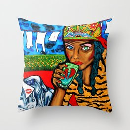 The Cheating Man Throw Pillow