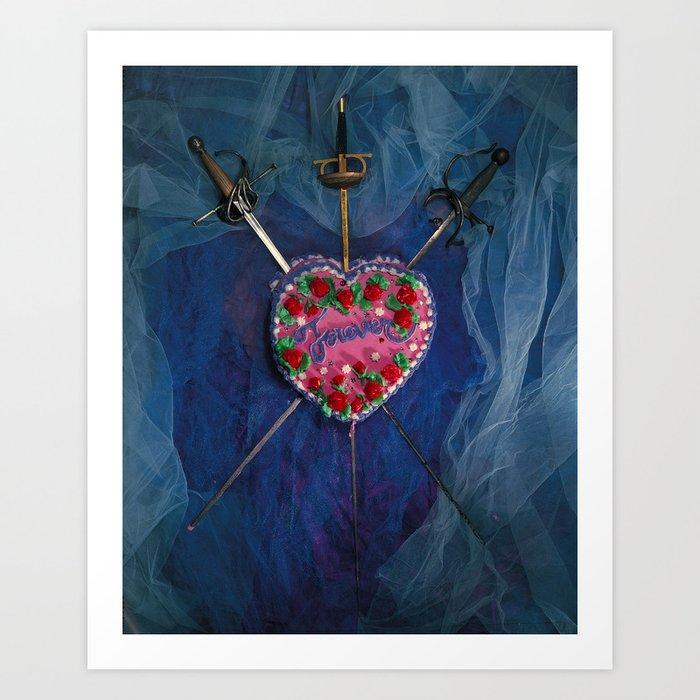 3 of Swords Art Print