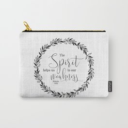 """""""The Spirit Helps Us in Our Weakness"""" Bible Verse Carry-All Pouch"""