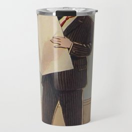 Deacon Bunny Illustration by Culmer Barnes in The Bunnys at Home In A Suit - 1915 Travel Mug
