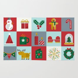 Fun Christmas Pattern Rug