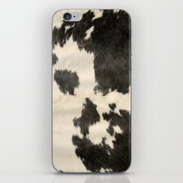 Black & White Cow Hide iPhone Skin