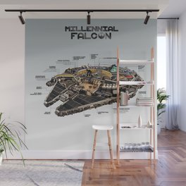 Millennial Falcon Wall Mural