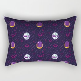Daft Punk Pattern Rectangular Pillow