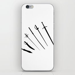 Sword Silhouettes iPhone Skin