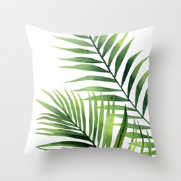 Palm leaves. Throw Pillow