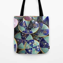 Wedgwood majolica Fan pattern Tote Bag