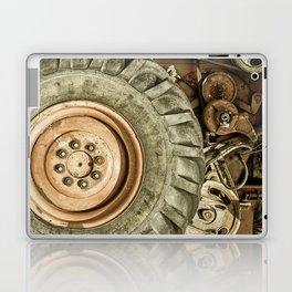 Big Combine Harvester Wheel Laptop & iPad Skin