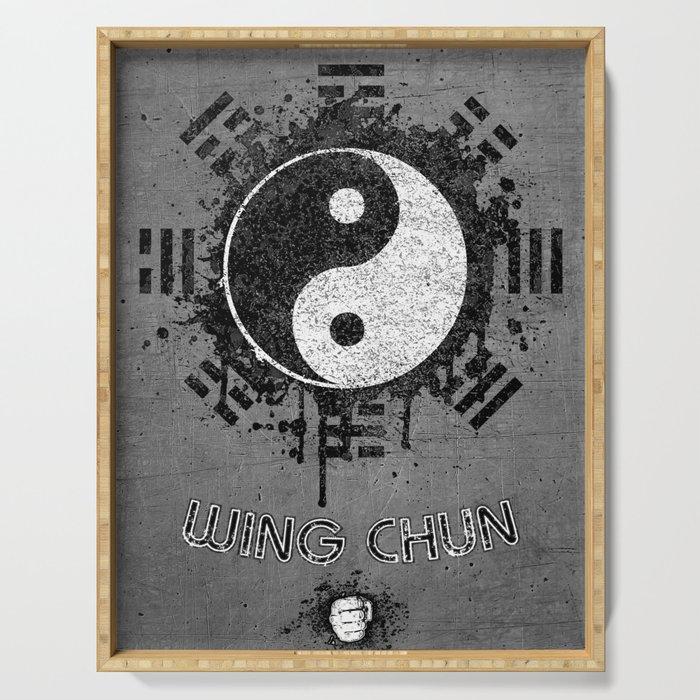 Wing Chun, Kung Fu, Yin Yang, I Ching Serving Tray